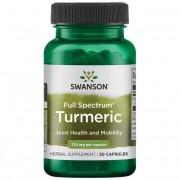 Swanson Kurkuma (Turmeric) 720 mg 30 kapsułek - 30 kapsułek