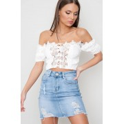 JFR Lace Up Crop Top - Mayce