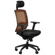 FOPOL - GN Office armchair GN-301/BLACK/ORANGE with seat sliding system, swivel chair