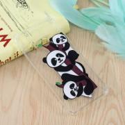 Huawei Drie Panda's patroon olie reliëf TPU Case voor Huawei Nova 4