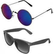 Zyaden Combo of Round And Wayfarer Sunglasses (Combo-150)
