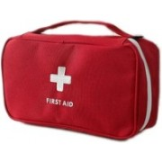 ATOOZED Mini Small First Aid Pouch Medicine Pill Tablet Storage Container (Red Color)(Red)