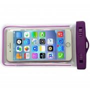 Caso Impermeable Bolsa De Teléfono S08 Con Luminoso Bolsa De Teléfono Funda Para El IPhone 7 7 Más 6 6s Para Samsung Galaxy S8 S7 Borde S6 Para El Teléfono De Hasta 5,7 Pulgadas (púrpura)