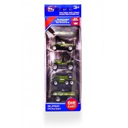 Super Toy Metal Die Cast Metal Toy Set of 5 (Military Tank & Truck Model)