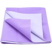 Glassiano Waterproof Baby Bed Protector Dry Sheet (70x50 CM) Small Size Violet