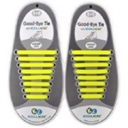 Koollace Yellow Adult No Tie Shoe Lace(Yellow Set of 16)