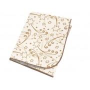 Meradiso Tafelkleed Wit/goud sterren rechthoekig