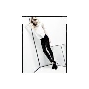 Ekskluzywne legginsy z modnym błyszczącym wzorem Wasabi firmy Omero