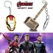 2 Pc AVENGER SET - THOR HAMMER - GOLD COLOUR & IRONMAN FACE (RED/GOLD) IMPORTED METAL KEYCHAINS ❤ LATEST ARRIVALS - RINGS, KEYCHAINS, BRACELET & T SHIRT - CAPTAIN AMERICA - AVENGERS - MARVEL - SHIELD - IRONMAN - HULK - THOR - X MEN - DC - BATMAN - SUPERMA