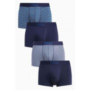 Next Mixed Pattern Hipsters Four Pack - Multi - Mens