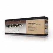 Final Touch Suport Inox pentru sticle si pahare de vin FTR 006