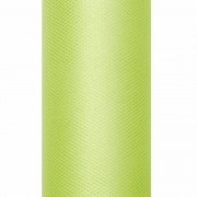 Geen Tule stof licht groen 15 cm breed