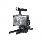 Yelangu Ylg0905a Manejar Video Camara Jaula Steadicam Estabilizador Para Sony A6000 / A6300 / A6500 (negro)
