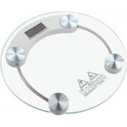 GADGET TREE Round Thick Tempered Glass 8mm Electronic Digital Personal Bathroom Health Body Weight Weighing Scale (White) Weighing Scale (Transparent) Weighing Scale(TRANSPARENT)