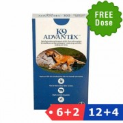 K9 Advantix Extra Large Dogs Over 55 Lbs (Blue) 6 Dose + 2 Doses Free