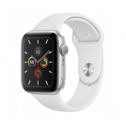 Watch, Apple Series 5 GPS, 44mm Silver Aluminium Case with White Sport Band (MWVD2BS/A)