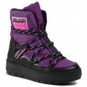 Pantofi TOMMY HILFIGER - City Voyager Snow Boot FW0FW04574 Midnight Plum VP5