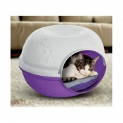 Casa Pet Cave Gato Perro Mascotas Plast Pet Chica Morada