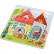 HABA® Puzzle en Bois la Maison des Oursons HABA® - Puzzles bois 3D