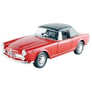 1960 Alfa Romeo Spider 2600 Soft Top Red 1/24 by Welly 24003hw