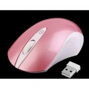 ER Desplazar El Ratón Inalámbrico USB Ratones Colocar Portátil Negro/blanco/rosa/azul -Rosa