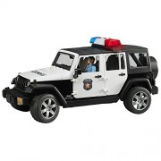Bruder Toys Kid's ABS Plastic Jeep Rubicon Police Car with Light Skin (32.9x14.4x16.2cm, Multicolour, 2526)