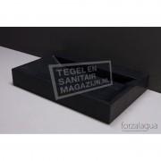Forzalaqua Bellezza Wastafel 80 cm Basalt Gezoet 80,5x51,5x9 cm 1 wasbak 1 kraangat