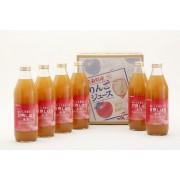 【無添加 果汁100%ジュース】おいしさまるごと 甘熟しぼり ふじ (1L×6本)