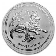 Lunární série II. stříbrná mince 2 AUD Year of the Dog Rok psa 2 Oz 2018