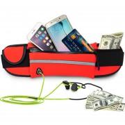 Cangurera Cinturon Deportivo Para Celular Color Rojo