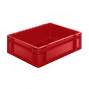 Euro-Format-Stapelbehälter, Wände und Boden geschlossen LxBxH 400 x 300 x 120 mm rot, VE 5 Stk