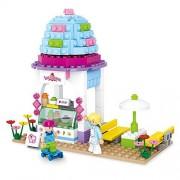 HAHAone Dream House DIY Building Blocks Toys for Girls Pretend Play Ice Cream Shop
