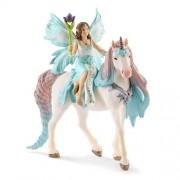 Schleich Fairy Eyela with Princess Unicorn Figurine Toy, Multicolor