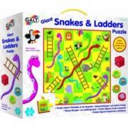 Puzzle de podea si Joc Galt Serpi si scari Multicolor