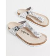 Birkenstock Gizeh sandal in gator silver - female - Silver - Size: 37