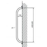 Zarges Haltegriff Stahl 600 mm