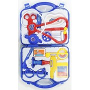 Tiny's world Doctor Set Nurse Family oprated Set Medical SuitcaseToy for Kids (Blue)
