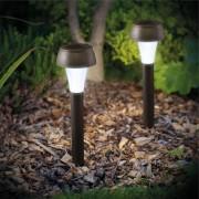 Napelemes kerti leszúrható Hédi lámpa 37 cm hideg fehér