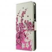 Bolsa Estilo Carteira para Samsung Galaxy A3 - Flores Rosa