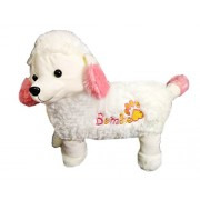 Famekart Soft & Cute Buddies Poodle Dog Play Soft Toy | Best Gift for Girls | Best Gift for Baby Girl Birthday, White (15-inch)