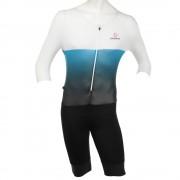 【セール実施中】【送料無料】XBLACK BODY ボディスーツ メンズ 男性用 ワンピース 自転車パンツ サイクルウエア 0237924290-17SS WHITE/BLUE