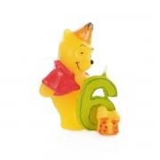 Lumanare 3D Winnie the Pooh Disney, cifra 6, inaltime 6 cm