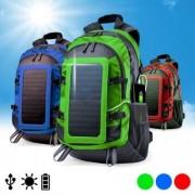 Uppladdningsbar ryggsäck med solcell 6.5W 146329 - Färg: Grön