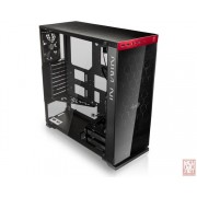 """IN-WIN 805C, ATX Midi Tower, no PSU, 2x3.5"""", 4x2.5"""", 1x120mm, USB Type-C, Tempered Glass, black-red"""