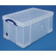 Certeo REALLY USEFUL BOX, inkl. Deckel - transparent, LxBxH 710 x 440 x 310 mm