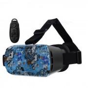 Gafas de video VR 3D con gafas + controlador bluetooth - negro + azul