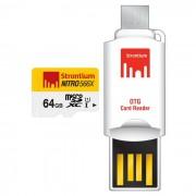 estroncio nitro SRN64GTFU1T 64GB MicroSD / TF con el lector de tarjetas de OTG