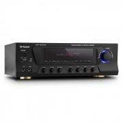 Auna AMP-3800 USB, fekete, 5.1 csatornás surround vevő, max. 600 W, USB, SD (AV1-Amp-3800 USB)
