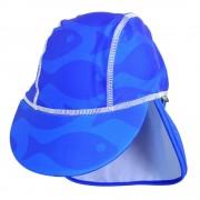 Sapca Fish blue 0-1 ani protectie UV Swimpy