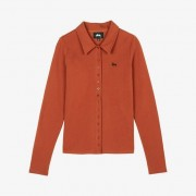 Stussy Maya Ls Button Down For Women In Brown - Size Wl